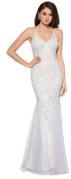 Xscape Evenings Embellished Mermaid-Hem Gown
