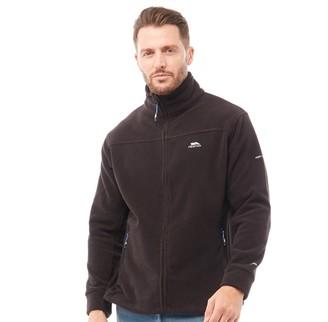 Trespass Mens Bernal Full Zip Fleece Jacket Black