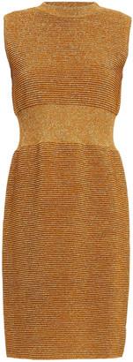 Moschino Metallic Ribbed-knit Mini Dress