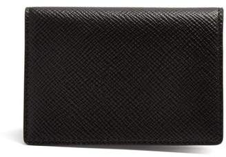 Smythson Panama Bi Fold Cardholder - Mens - Black