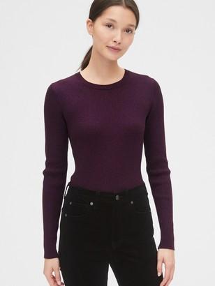 Gap Metallic Ribbed Crewneck Sweater