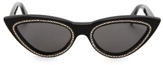Celine 56MM Crystal-Studded Cat Eye Sunglasses