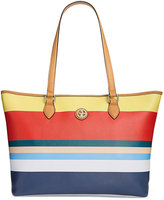 Giani Bernini Striped Saffiano Large Tote, Only at Macy's
