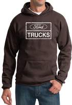 A&E Designs Ford Hoodie Distressed Ford Trucks Classic Adult Hoody (4XL, )