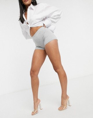 Fashionkilla booty short in grey