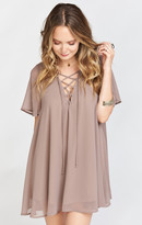 MUMU Rancho Vista Tunic Dress ~ Dune Chiffon