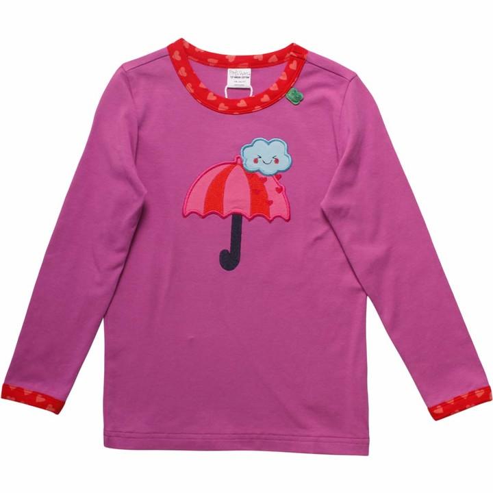 Fred's World by Green Cotton Baby Girls' Heart Umbrella T Shirt