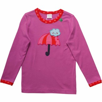 Green Cotton Fred's World by Baby Girls' Heart Umbrella T Shirt