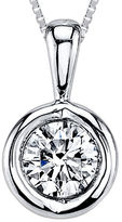 Sirena 1/12 CT. T.W. Diamond 14K White Gold Pendant Necklace