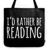 Society6 I'd Rather Be Reading - Inverted Tote Bag
