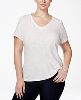 INC International Concepts Plus Size V-Neck Tee