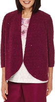 Alfred Dunner Veneto Valley Sequin Boucle Jacket