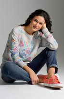 J. Jill Artistic faded floral sweatshirt