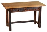 Derecho 2 Drawers Writing Desk Union Rustic Color: Antique Oak Finish with Barnwood Legs