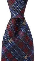 Daniel Cremieux Duck Print Plaid Traditional Silk Tie