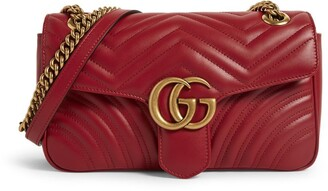 Gucci Small Leather Marmont Matelasse Shoulder Bag