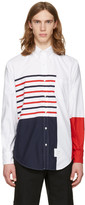 Thom Browne White Painted Stripes Classic Shirt