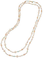 Carolee Gold-Tone Beaded Extra Long Necklace