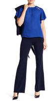 Laundry by Shelli Segal High Waist Stretch Crepe Straight Leg Pant
