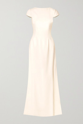 Halfpenny London Fern Open-back Crepe Gown - Ivory