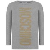 Moschino MoschinoGirls Grey Studded Logo Maxi Top