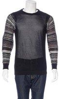 Raf Simons Striped Mesh Sweater