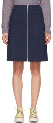 YMC Navy Zippered Skirt