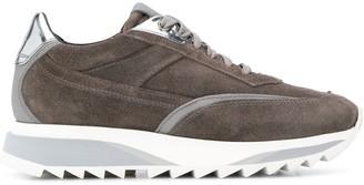 Santoni chunky heel embossed logo sneakers