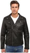 Members Only Genuine Leather/Lamb Milano Modern Motor Jacket
