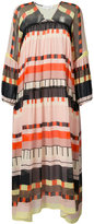 Apiece Apart abstract printed long dress - women - Silk/Rayon - 4