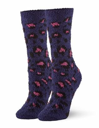 Hue Women's Leopard Plush Slipper Sock