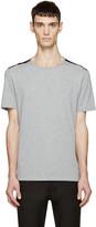 Maison Margiela Grey & Black Shoulder Panel T-Shirt