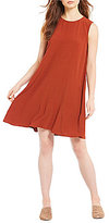 Eileen Fisher Round Neck Short Sleeve Boxy Dress
