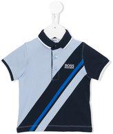 Boss Kids - striped polo shirt - kids - Cotton/Spandex/Elastane - 6 mth