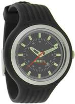 Breil Milano Unisex New Hip Hop Analogue Watch TW0575 with 40mm Stainless Steel Case, and Black Resin Strap