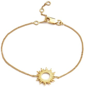 Rachel Jackson London Electric Goddess Sun Bracelet Gold