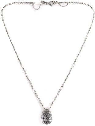 Cartier 2000 white gold Myst rock crystal and diamond pendant necklace