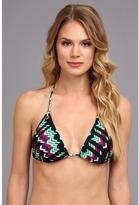 Shoshanna Villa Belrose Eyelet Triangle Bikini Top