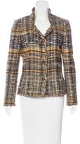 Oscar de la Renta Metallic Tweed Jacket