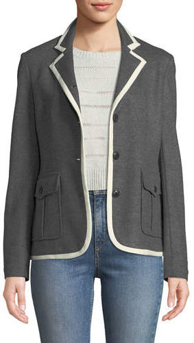 Rag & Bone Uni Button-Front Wool Blazer