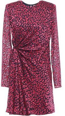 Saint Laurent Ruched Devore-satin Mini Dress