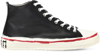 Marni 10mm Leather High Top Sneakers