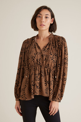 Seed Heritage Animal Frill Blouse