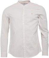 Farah Mens Steen Grandad Slim Fit Long Sleeve Shirt Ecru