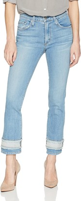 James Jeans Women's Sneaker Straight High Rise Ankle Length Jean in Revival 32