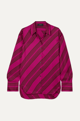 Joseph Doy Striped Silk-satin Blouse - Pink