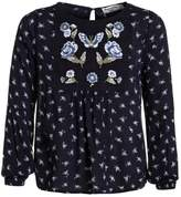 Abercrombie & Fitch FLORAL EMBROIDERED Blouse navy
