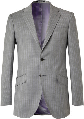 Richard James Slim-Fit Pinstriped Wool-Flannel Suit Jacket