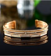 Swarovski Sevil Designs Women's Bracelets Gold - 18k Gold-Plated Twist Cuff Bracelet With Crystals