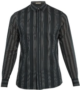 Bottega Veneta Single-cuff Striped Cotton And Silk-blend Shirt